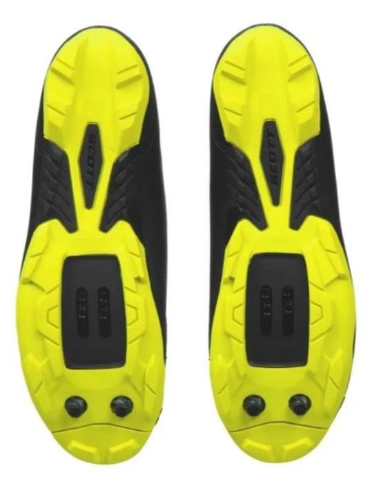 Sapatilha Scott Comp Boa 2022 Preta/amarelo Fluo Mtb Clip