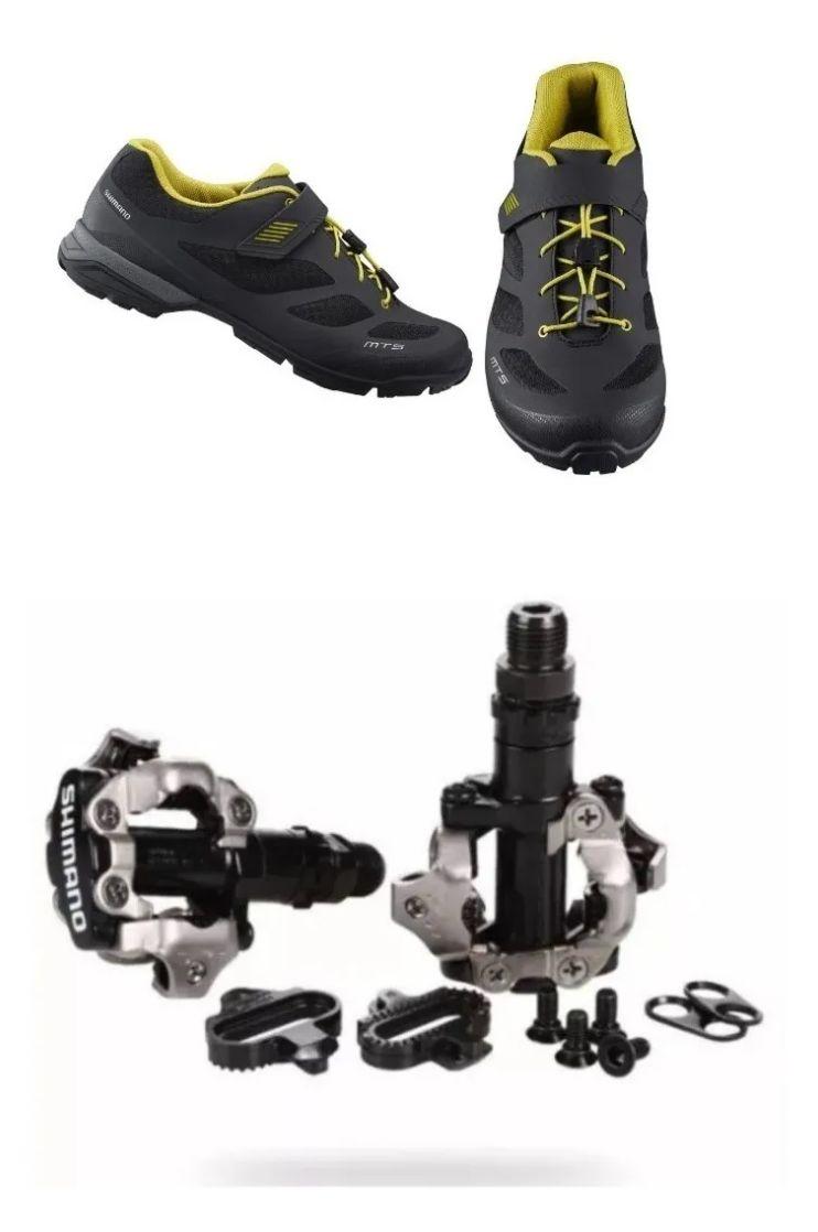 Sapatilha Shimano Mt501 Tipo Tênis + Pedal M520 + Tacos Clip