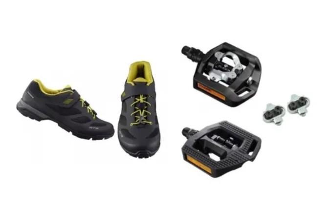 Sapatilha Shimano Mt501 Tipo Tênis + Pedal Pd-eh500 + Tacos