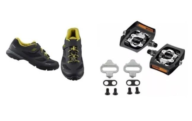 Sapatilha Shimano Mt501 Tipo Tênis + Pedal T400 Click'r Clip