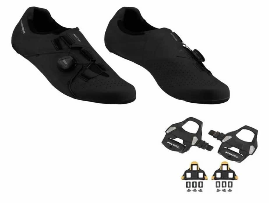 Sapatilha Shimano Sh-rc300 Rc3 + Pedal Rs500 + Tacos Speed