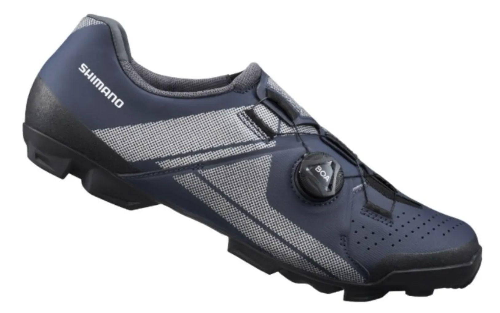 Sapatilha Shimano Sh-xc300 Xc3 Sistema Boa Pedal Clip Azul