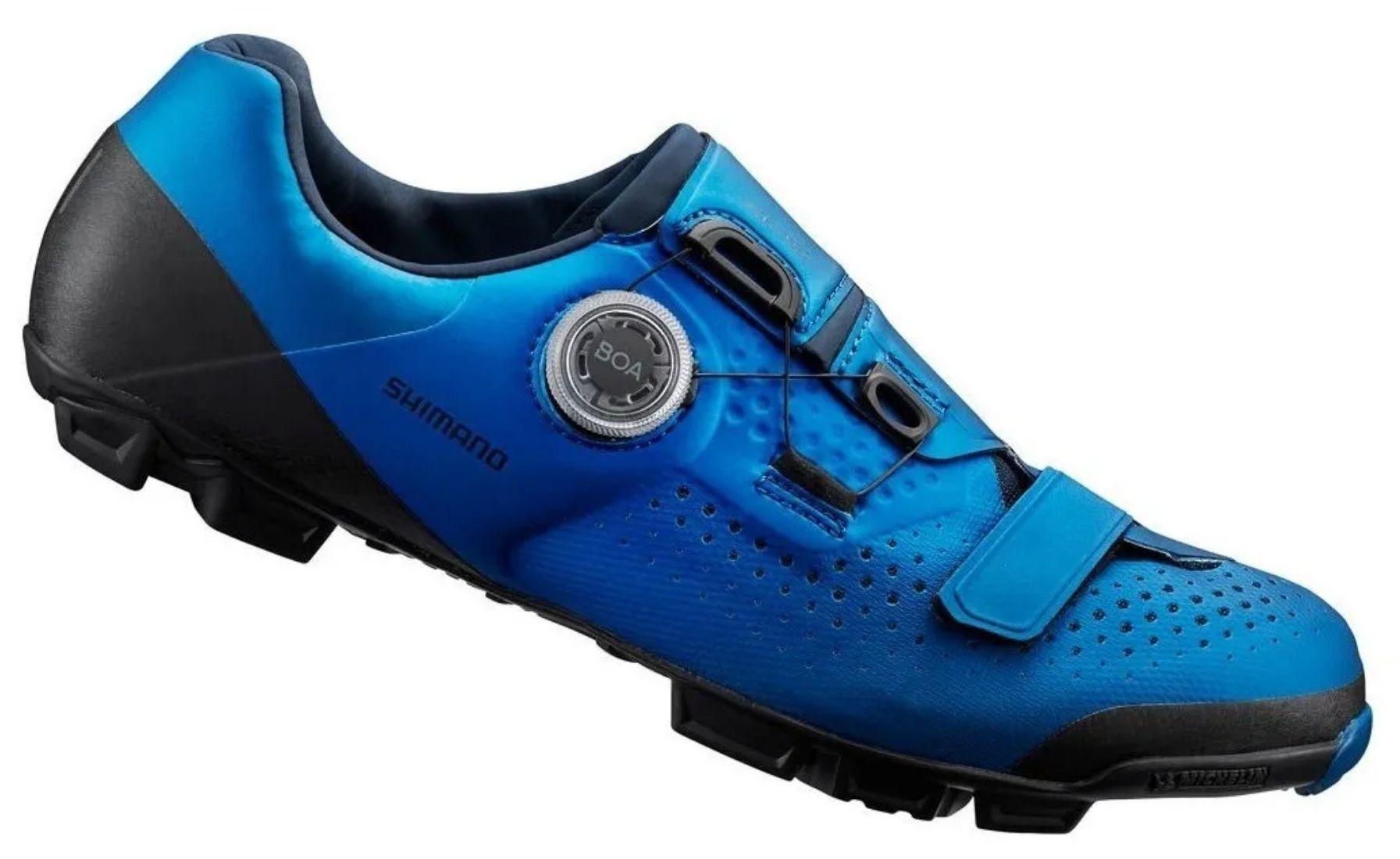 Sapatilha Shimano Sh-xc501 Sistema Boa Pedal Clip azul