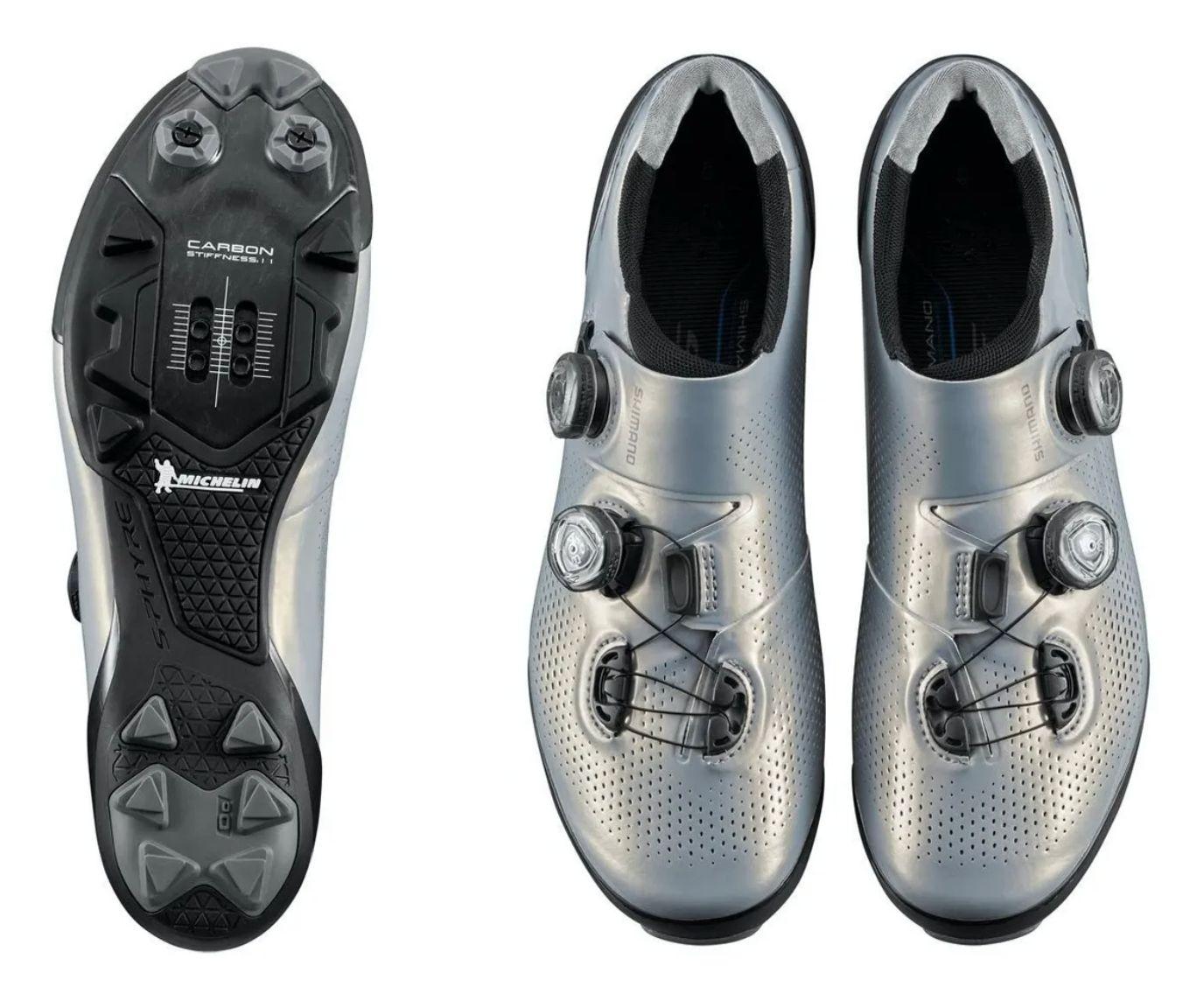 Sapatilha Shimano Sh-xc901 S-phyre Carbon Prata Mtb Clip