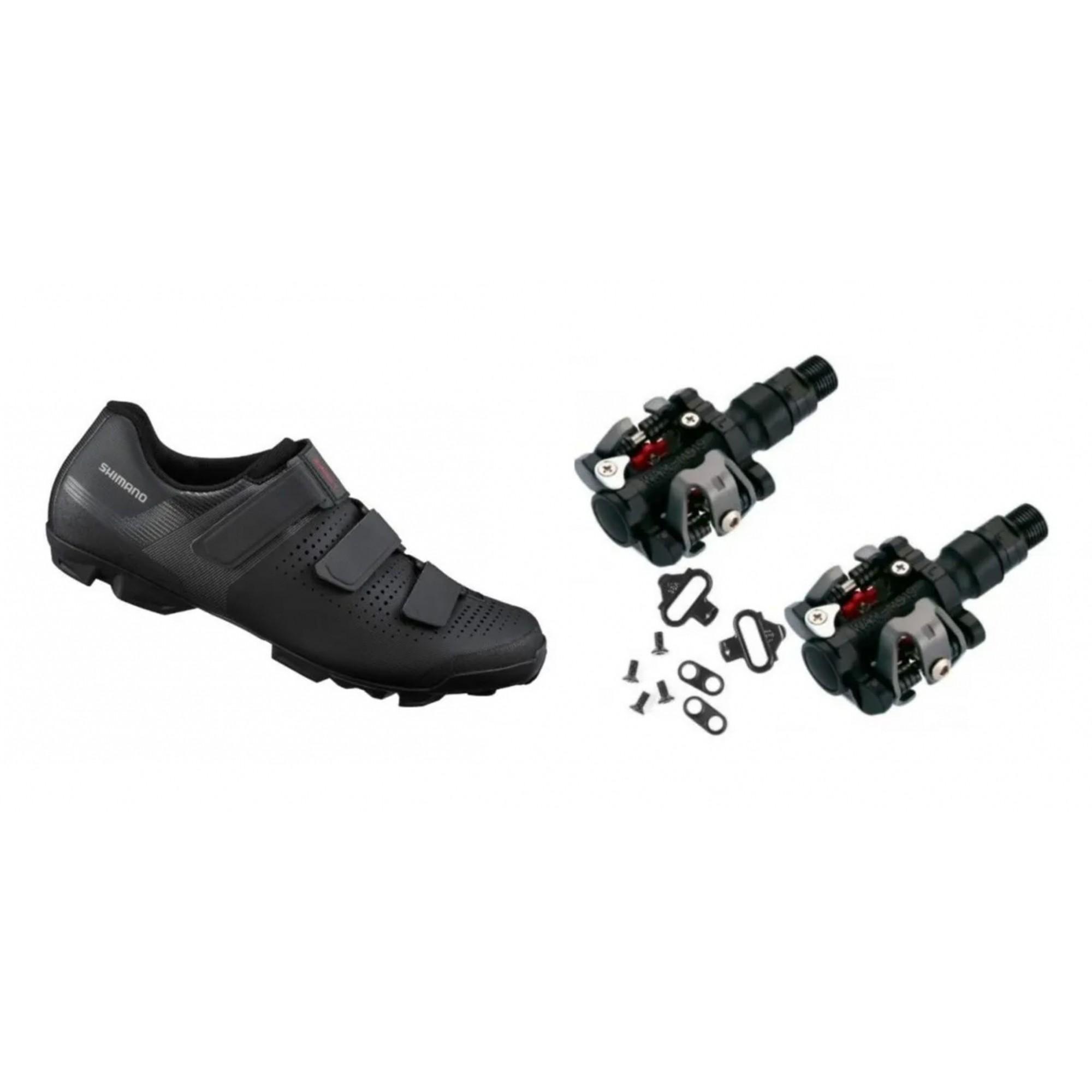 Sapatilha Shimano Xc1 Xc100 + Pedal Clip Wellgo + Tacos Mtb