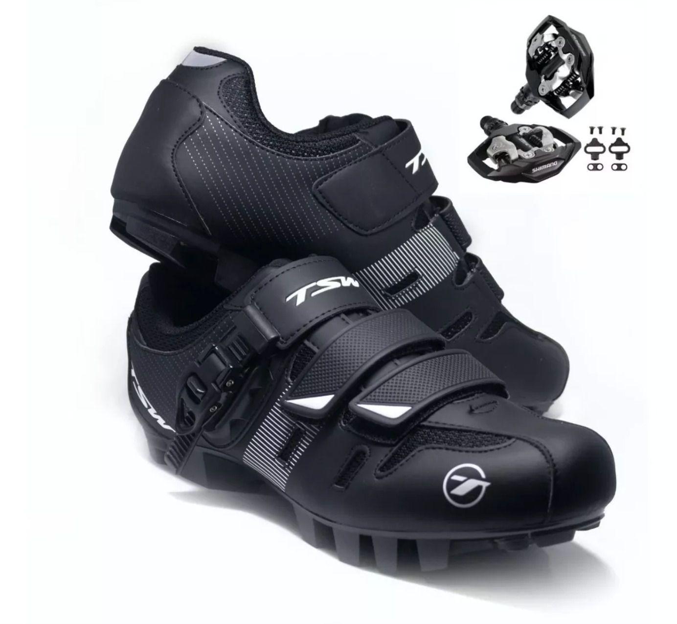 Sapatilha Tsw Cave + Pedal Shimano M530 + Tacos Clip