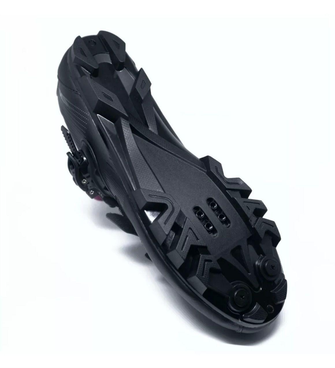 Sapatilha Tsw Cave Preta + Pedal Shimano M530 + Tacos Clip Mtb