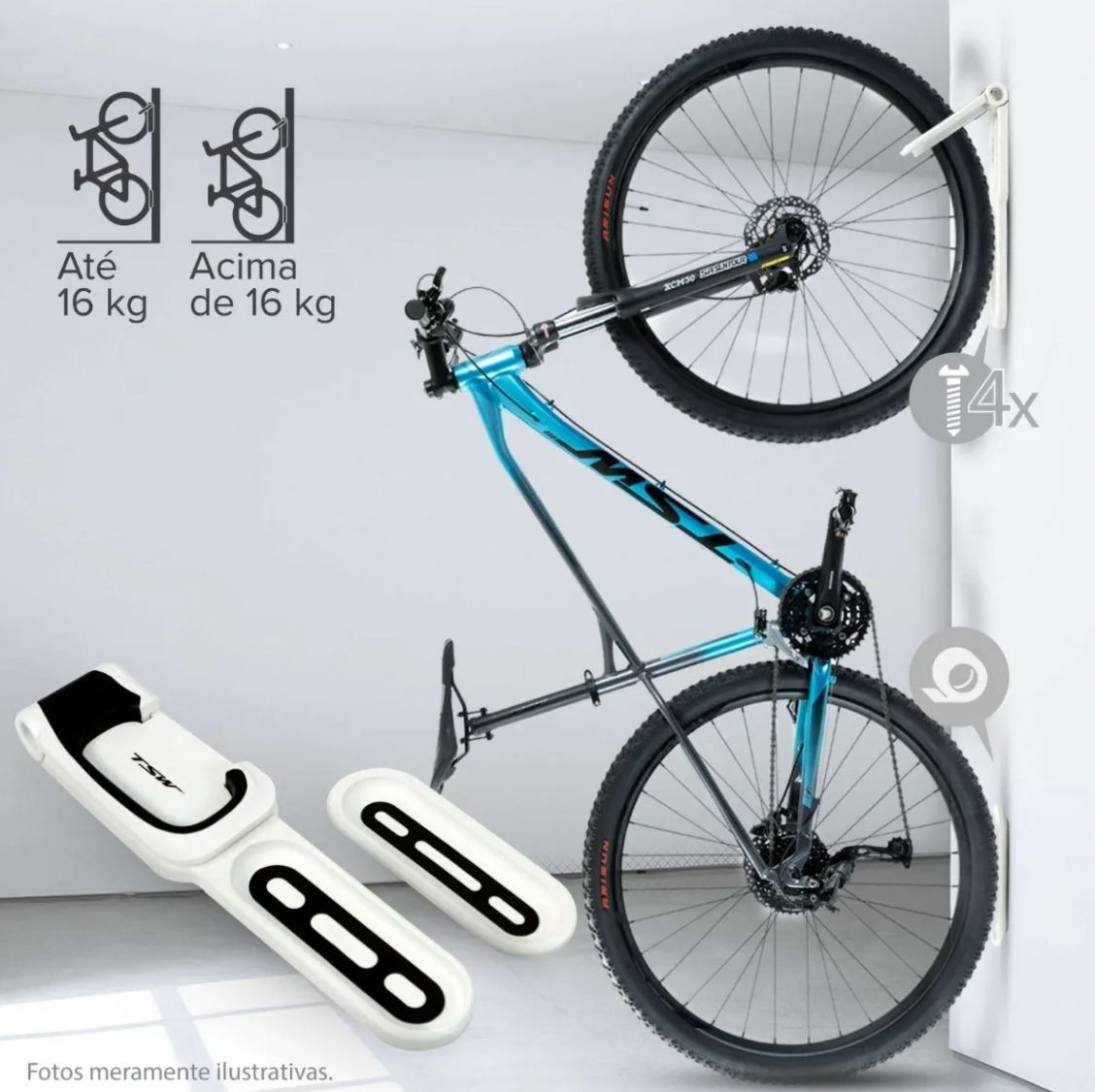 Suporte Bike Parede Vertical Tsw 26 , 27.5 , 29 E 700c