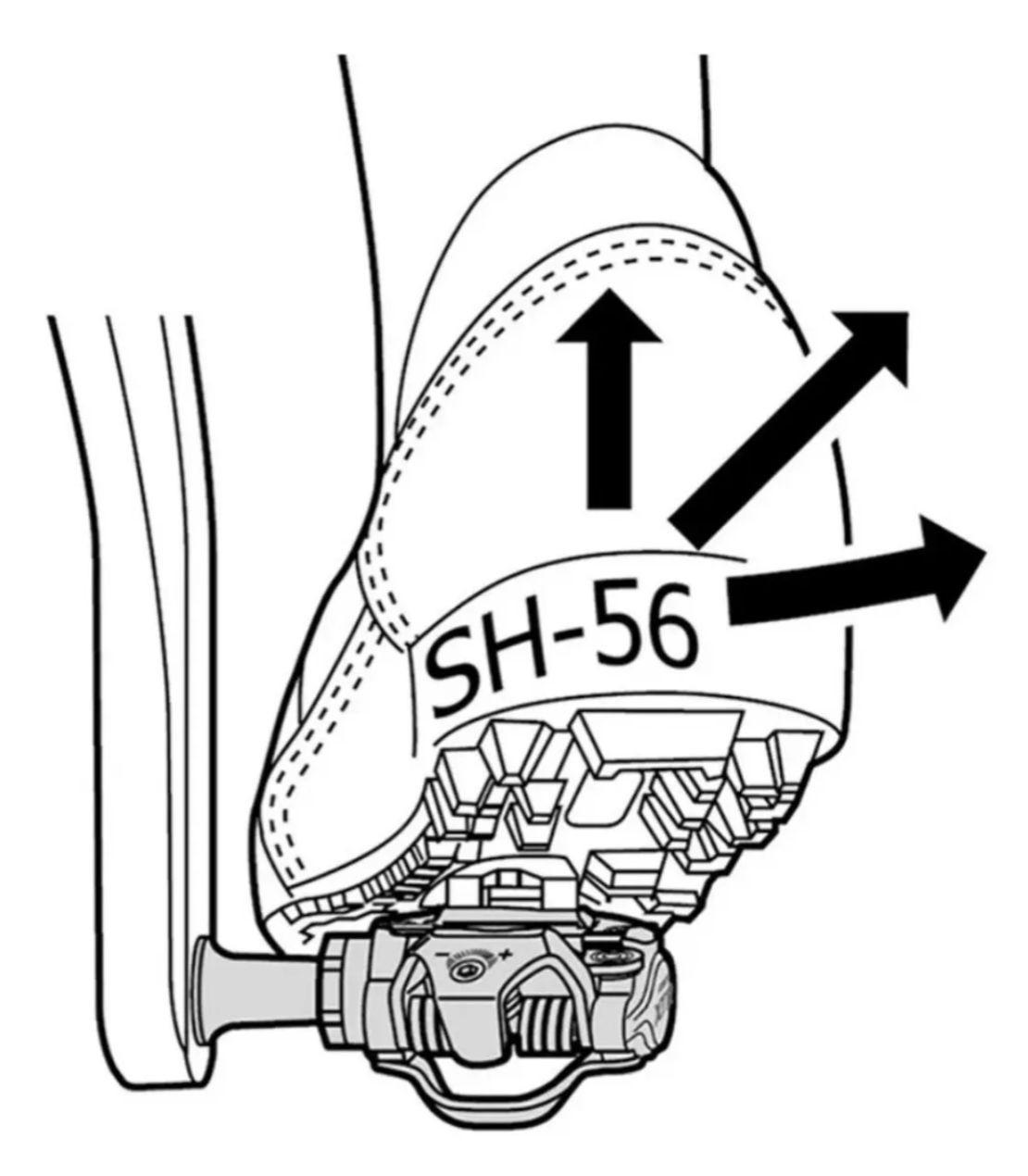 Tacos Pedal Shimano Sm-sh56 Multidirecional Clip Bicicleta