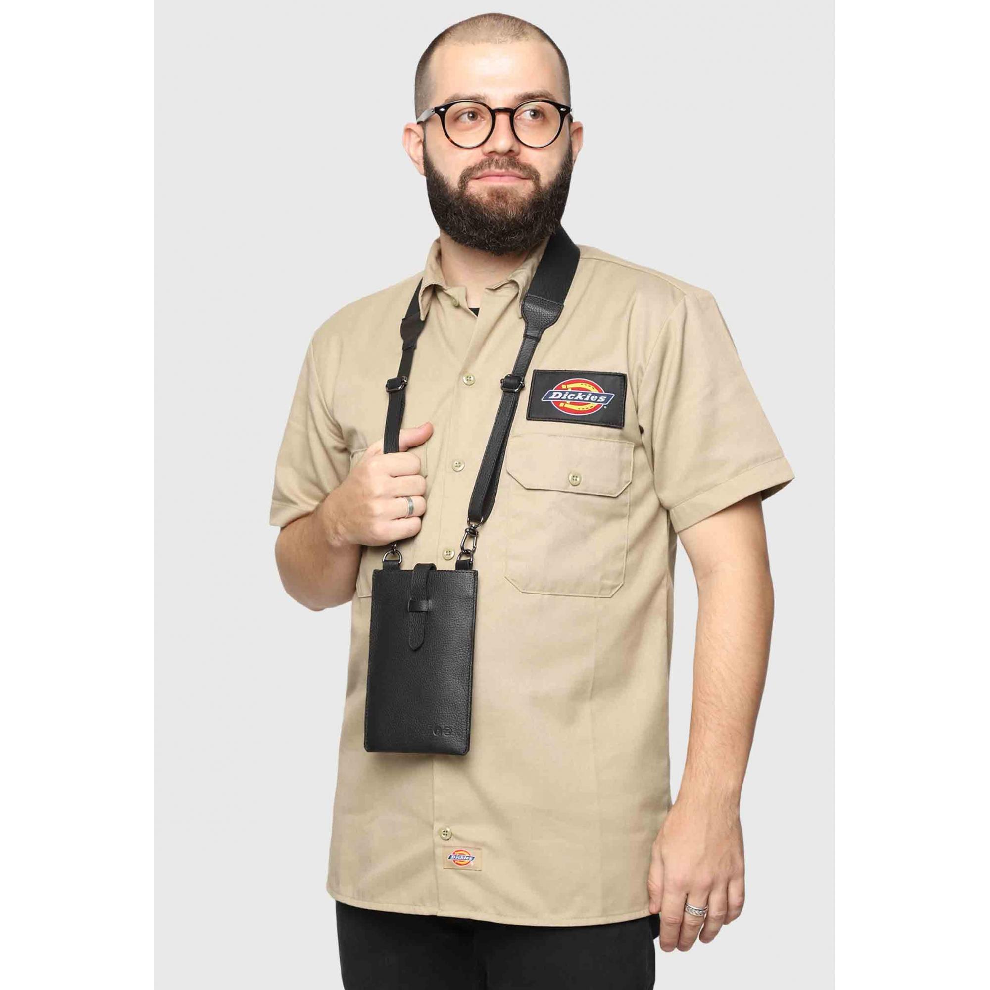 Black Compact Bag Couro Couro50 x Macho Moda