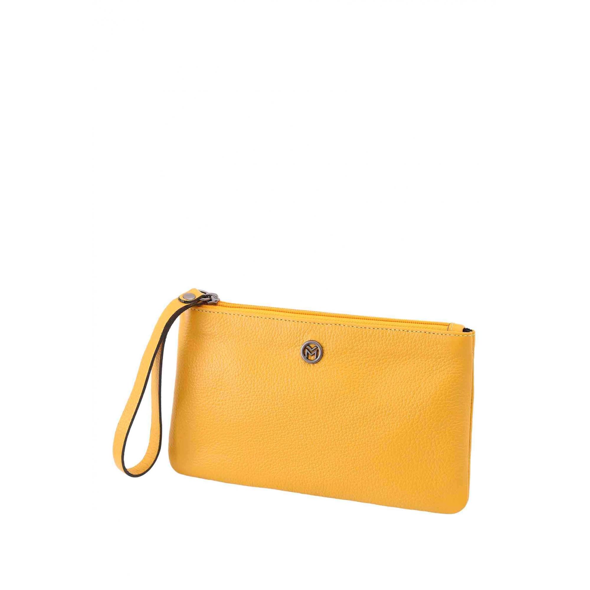 Bolsa Carteira Clutch Couro Mariart 263C Cores Gold