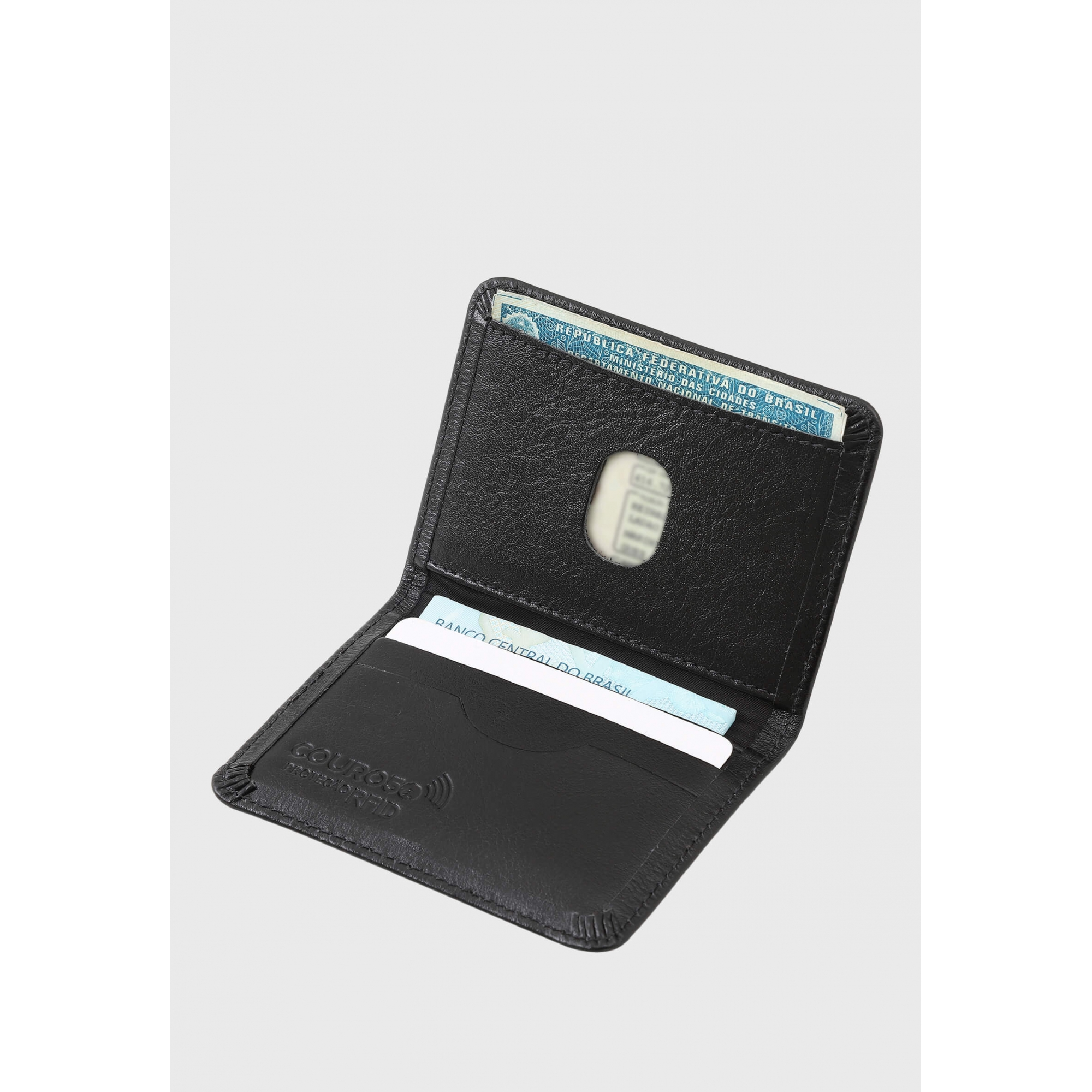 Carteira Couro Couro50 Proteção Antifurto RFID 631