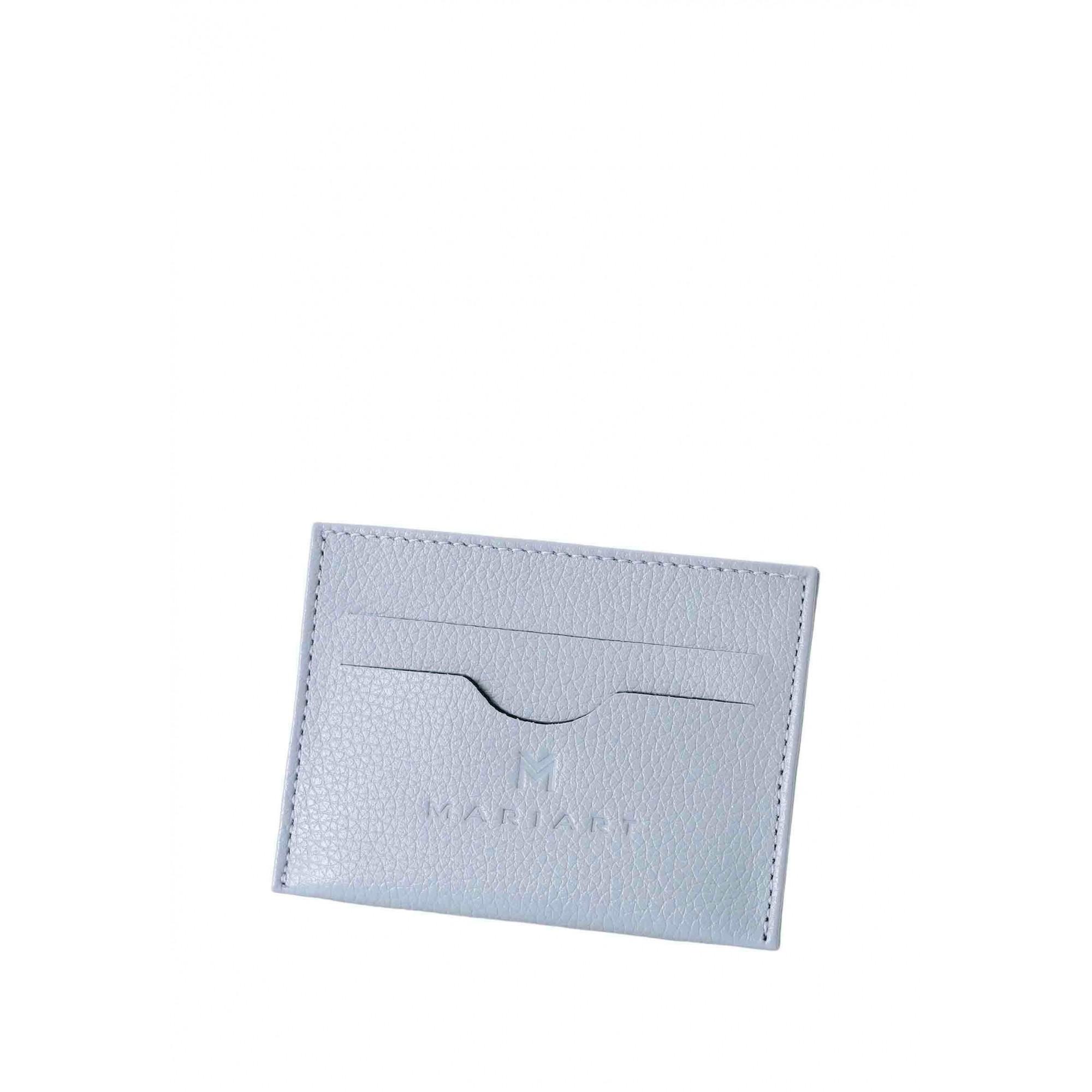 Porta Cartão Couro Mariart 158C CORES Azul Bebê