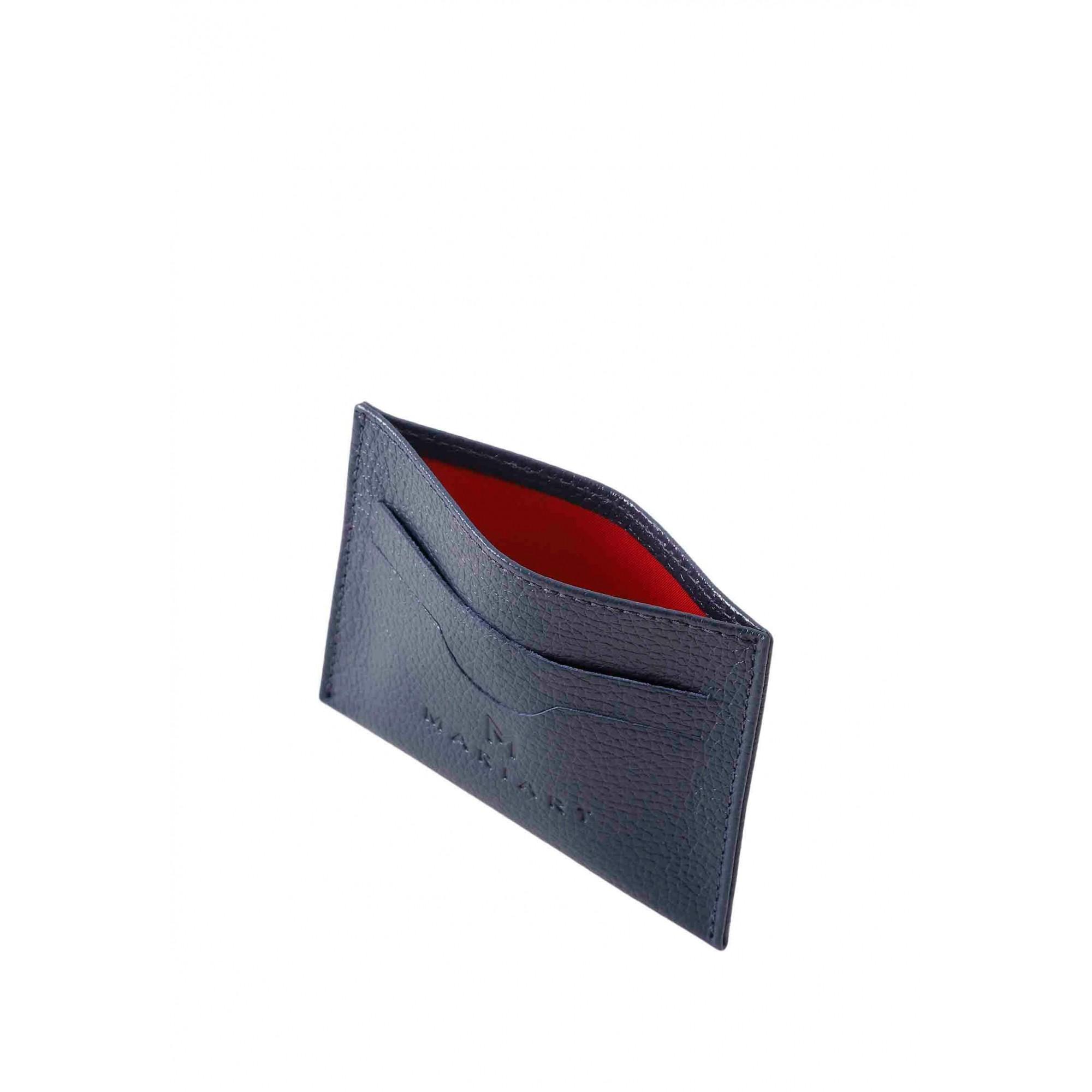 Porta Cartão Couro Mariart 158C CORES Marinho