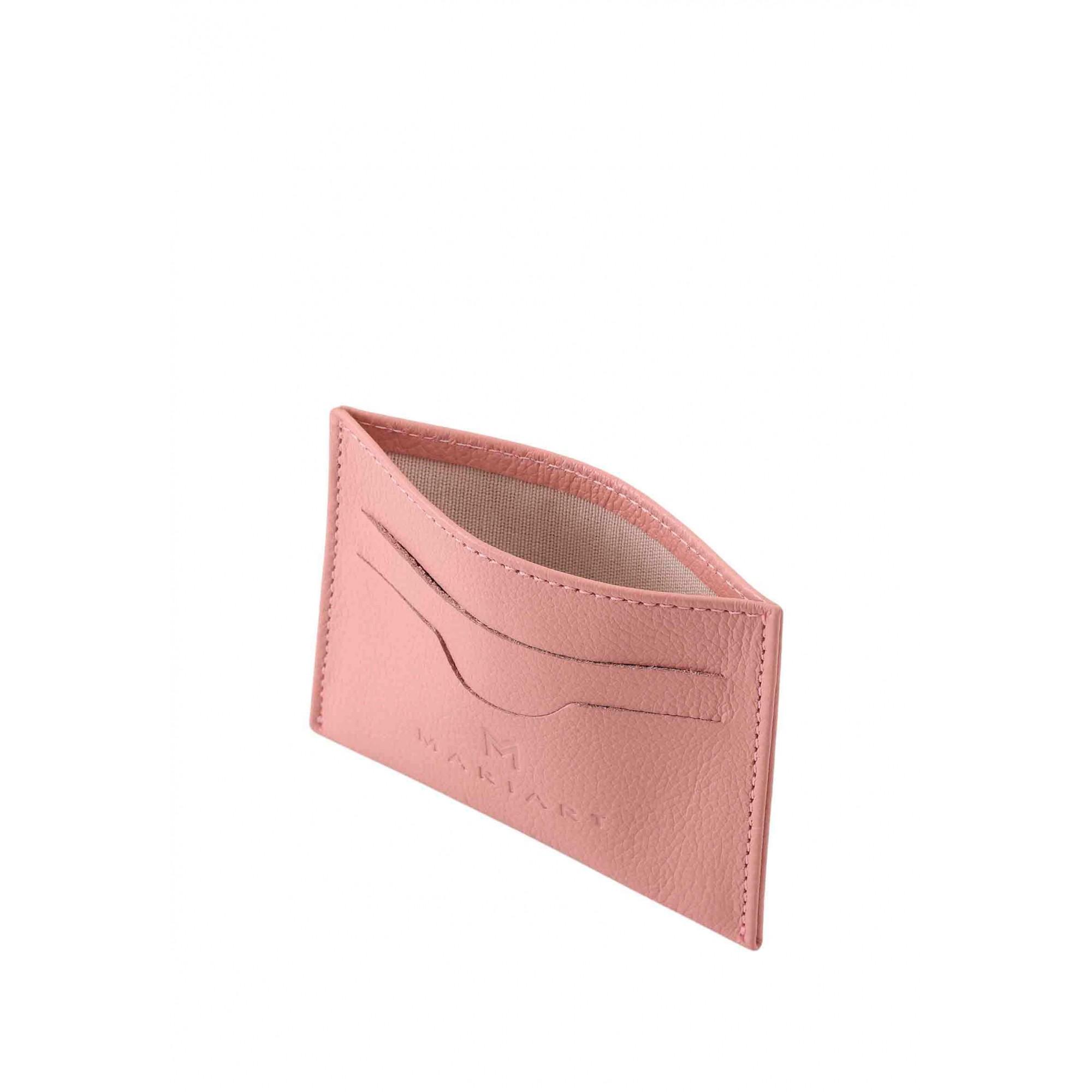 Porta Cartão Couro Mariart 158C CORES Rosé