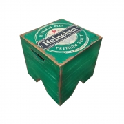 Banco volpi em madeira - Cerveja Heineken