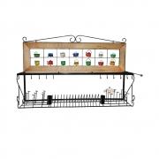 Escorredor de louça de parede panela 1,2 metro