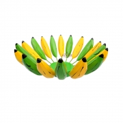 Fruteira de mesa rústica decorativa banana verde e madura