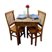 Mesa de Jantar e Cadeiras em Madeira Maciça de Jequitibá