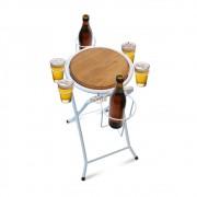 Mesa dobrável petisqueira cerveja artesanal - branca