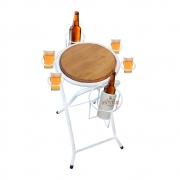 Mesa dobrável petisqueira cerveja artesanal branco