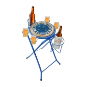 Mesa dobrável petisqueira cruzeiro azul