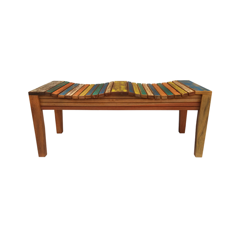 Banco de madeira com pátina 100 cm