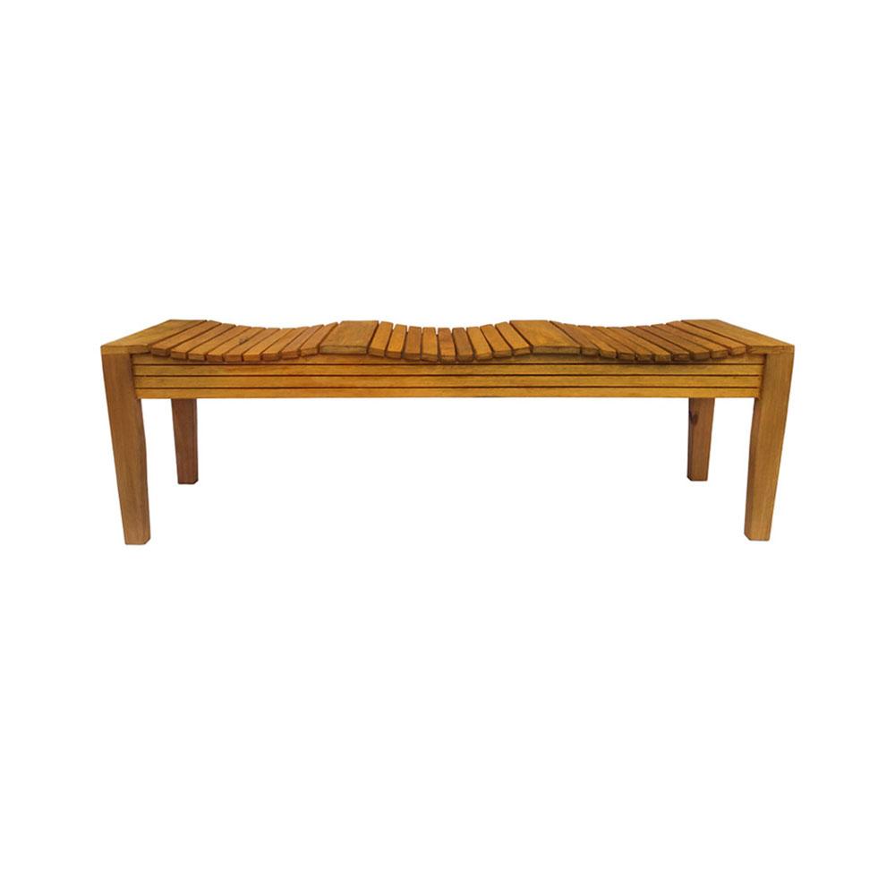 Banco rústico madeira maciça 145 cm