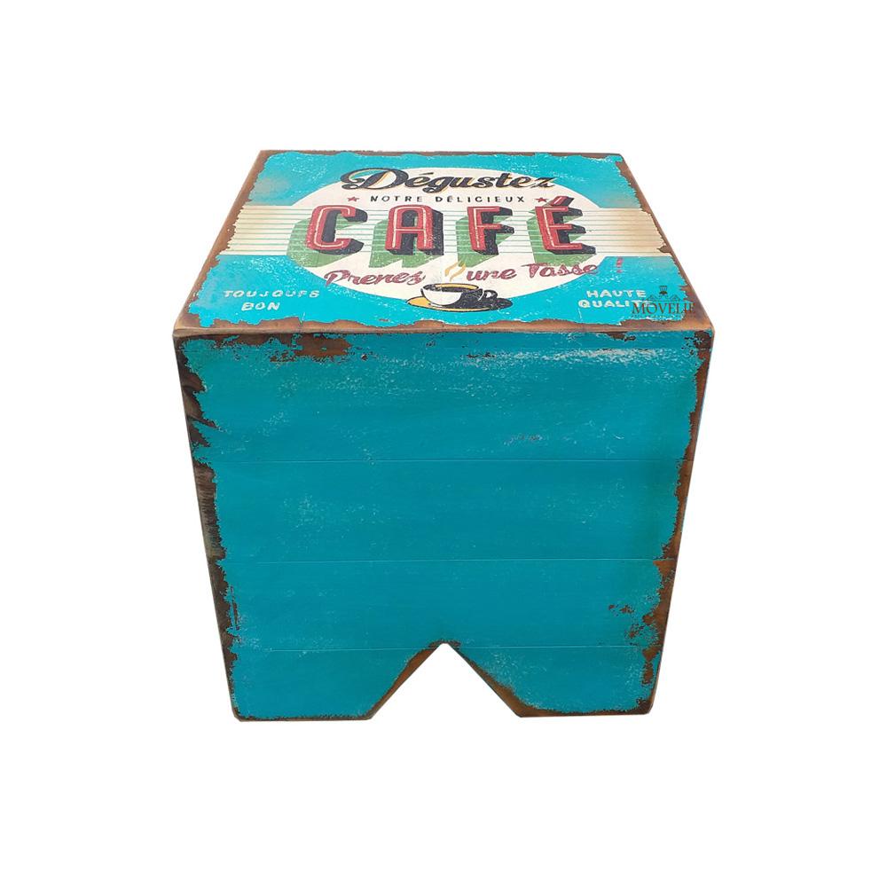 Banco volpi madeira maciça mesa de centro dégustez café