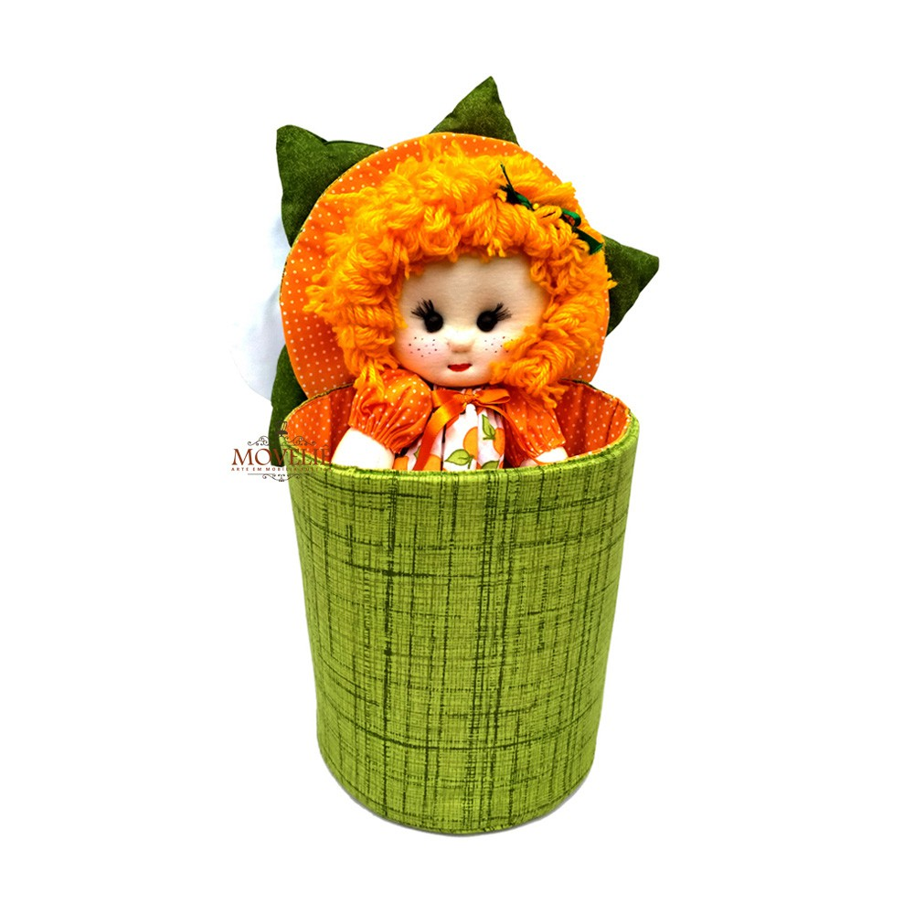 Boneca de Pano Menina Flor de Laranjeira