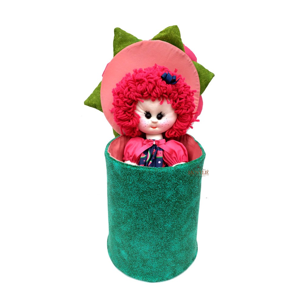 Boneca de Pano Menina Flor Melancia