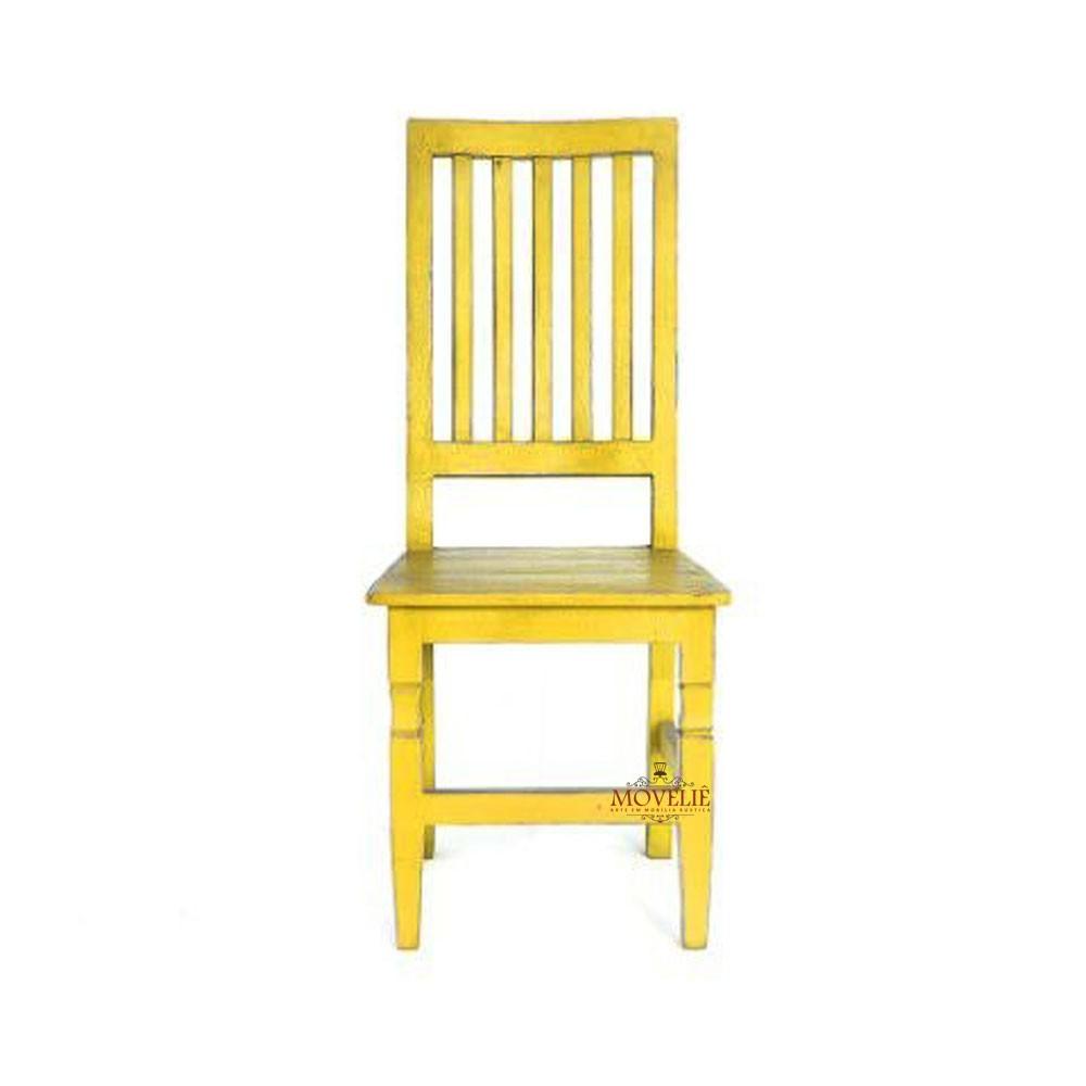 Cadeira para mesa de jantar - amarelo