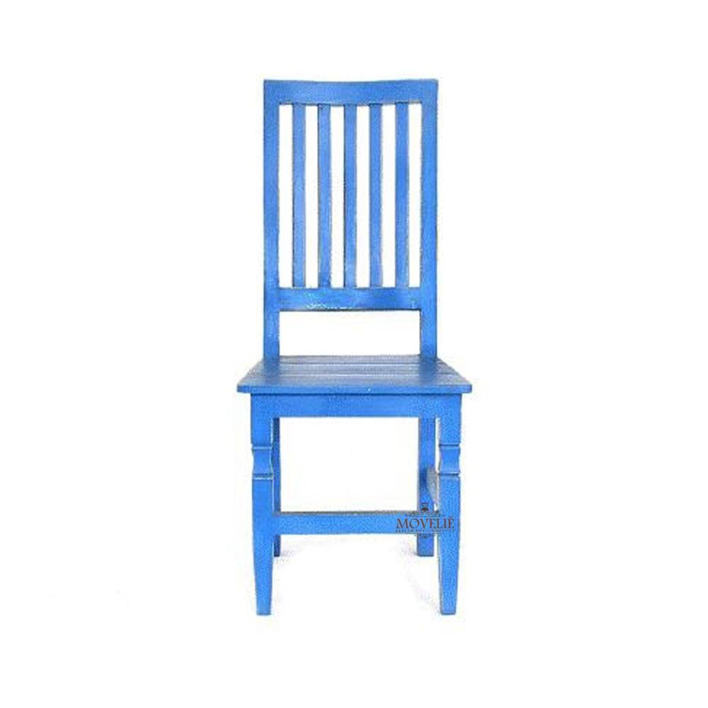 Cadeira para mesa de jantar - azul
