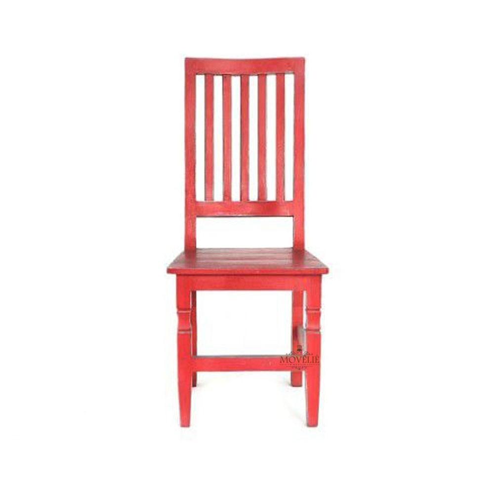 Cadeira para mesa de jantar - vermelho