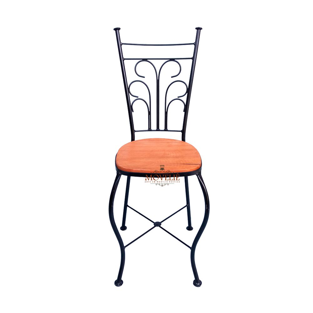 Cadeira Rústica Ferro e Madeira