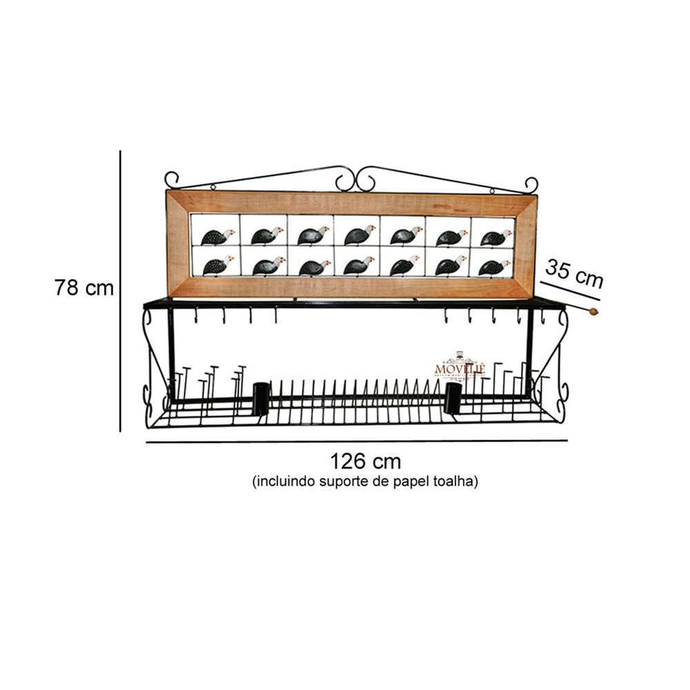 Escorredor de louça de parede angola 1,2 metro