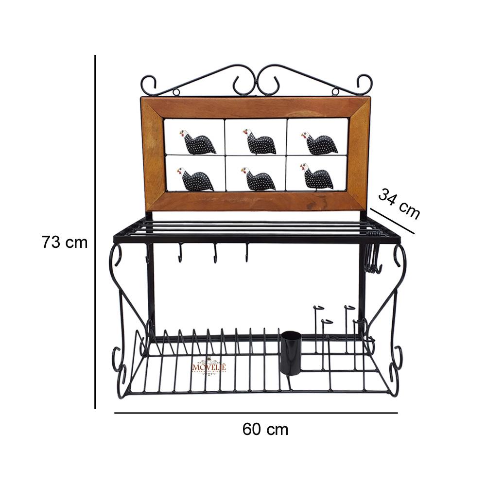 Escorredor de louça de parede angola 60 cm