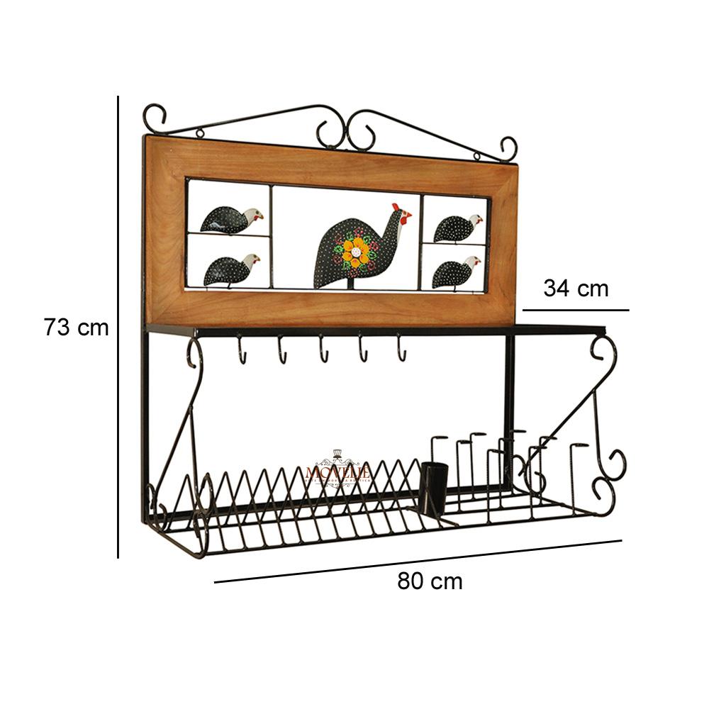 Escorredor de louça de parede angolas 80 cm