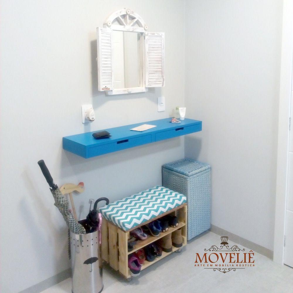 Espelho Decorativo para Banheiro 60 cm - Pátina Branca