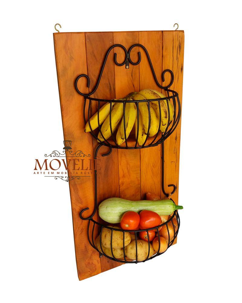 Fruteira de parede rústica