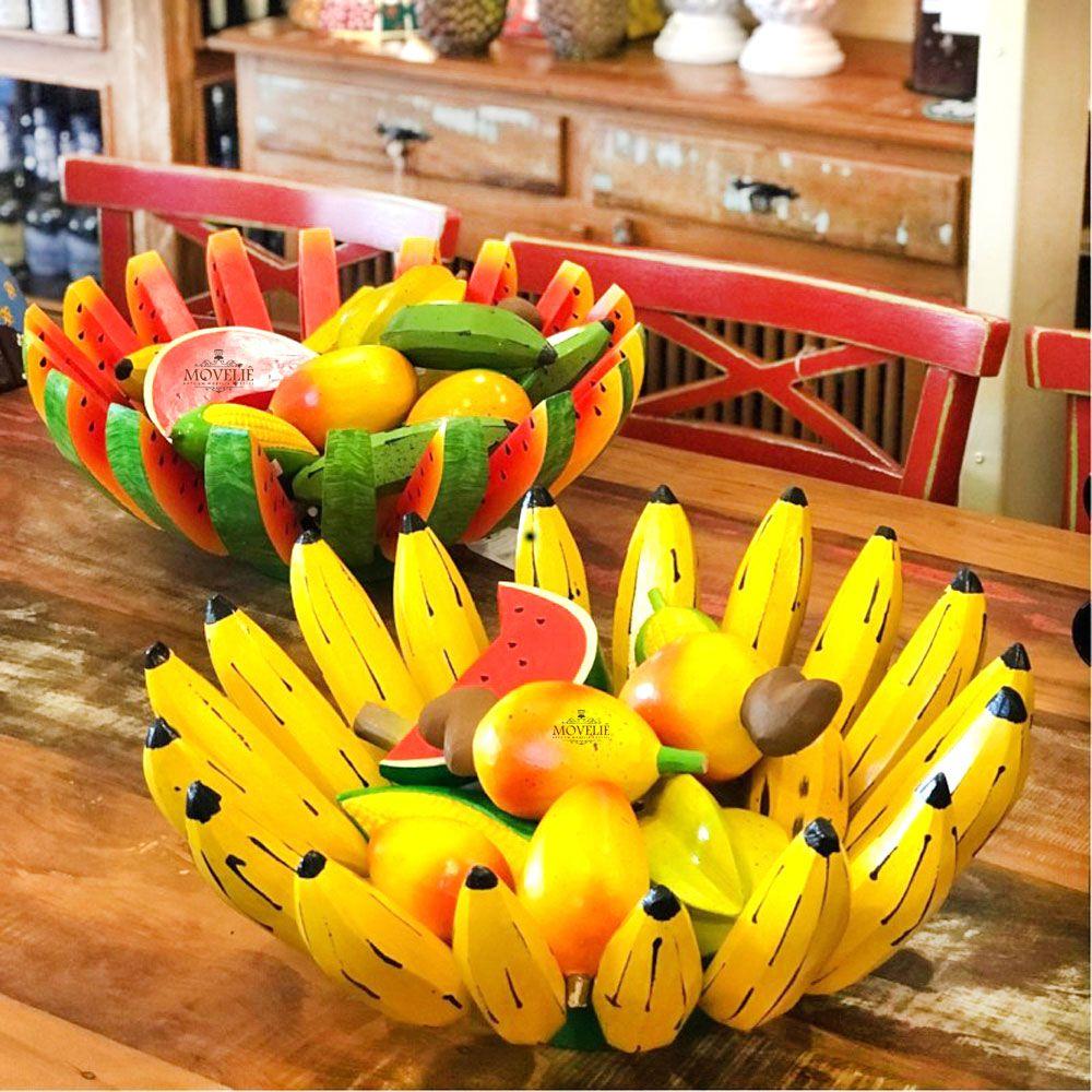 Fruteira de mesa - banana e melancia