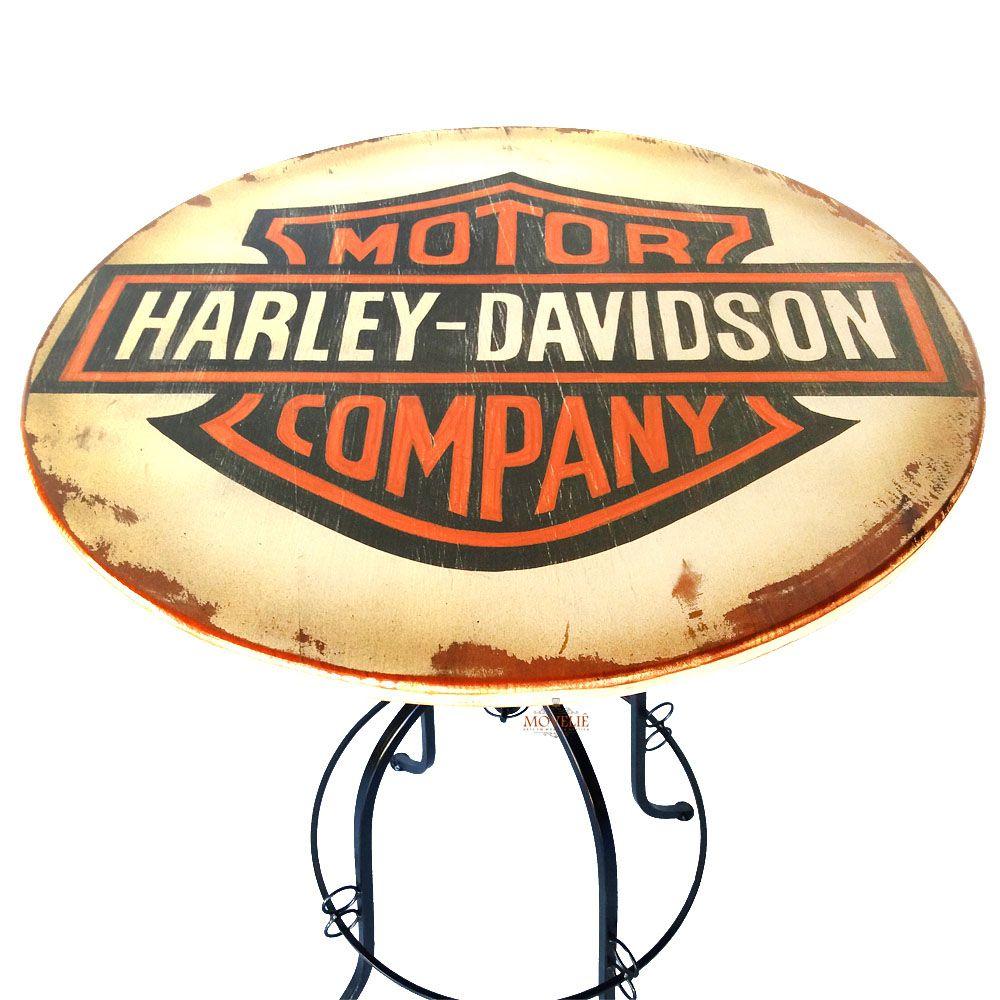 Jogo Bistrô Harley Davidson com Mesa e Banquetas