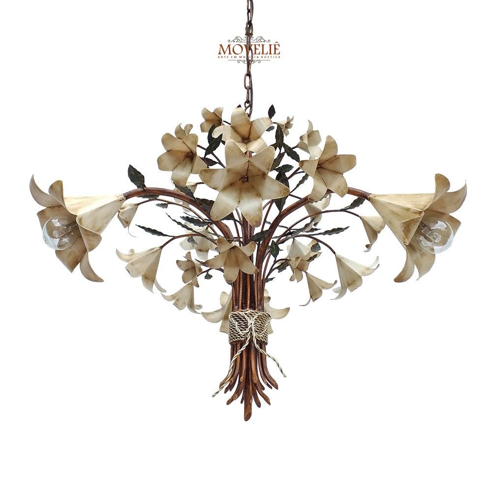 Luminária de teto pendente - trombeta de anjo