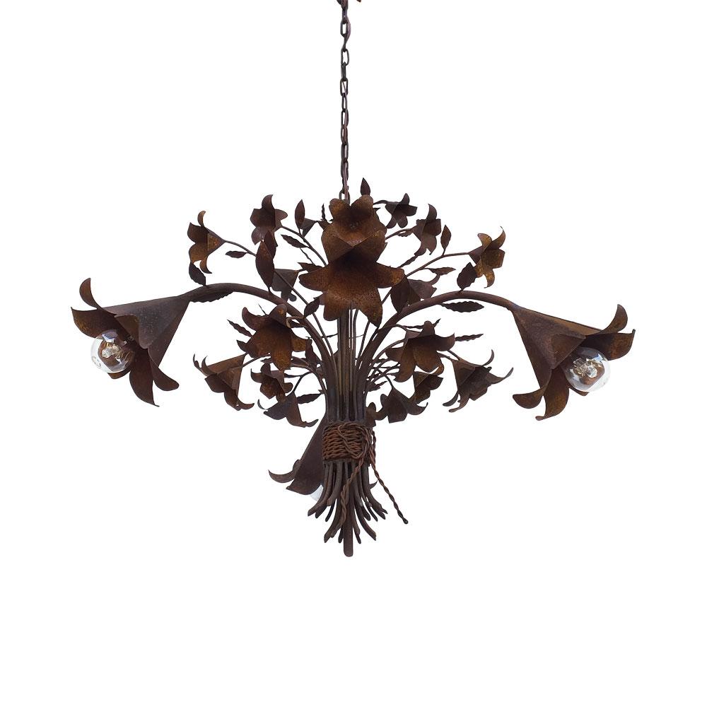 Luminária rústica decorativa trombeta