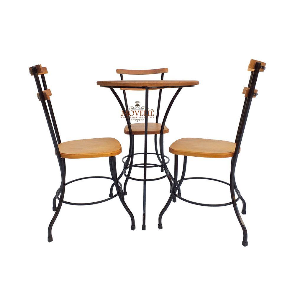 Mesa com cadeiras para área gourmet