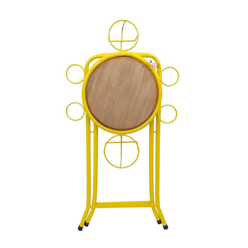 Mesa dobrável petisqueira - amarela