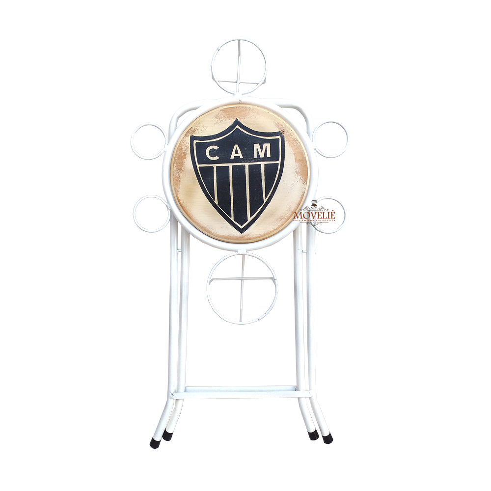 Mesa dobrável petisqueira atlético mineiro branco