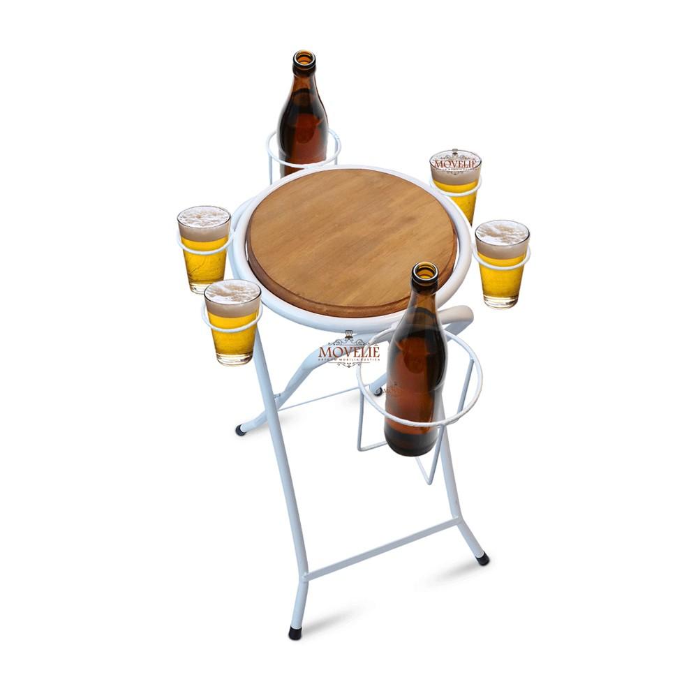 Mesa dobrável petisqueira - branca