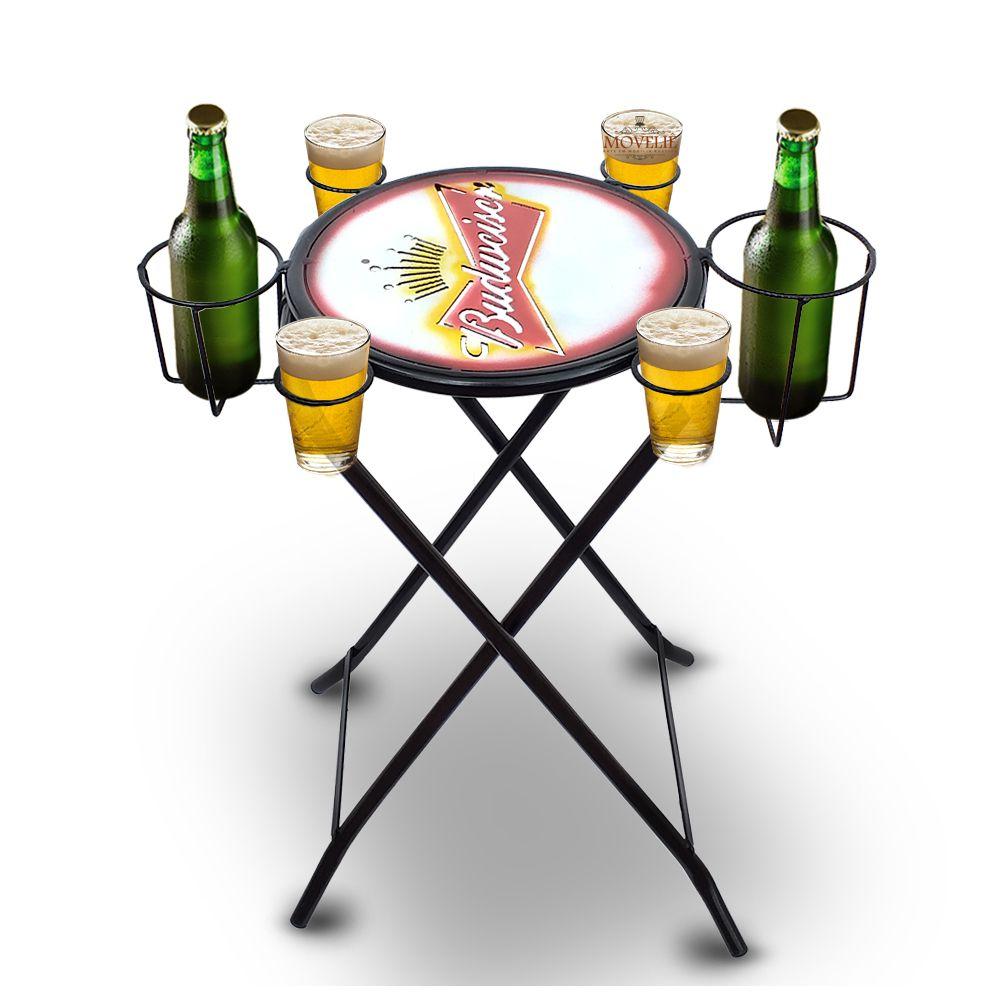 Mesa dobrável petisqueira Cerveja Budweiser