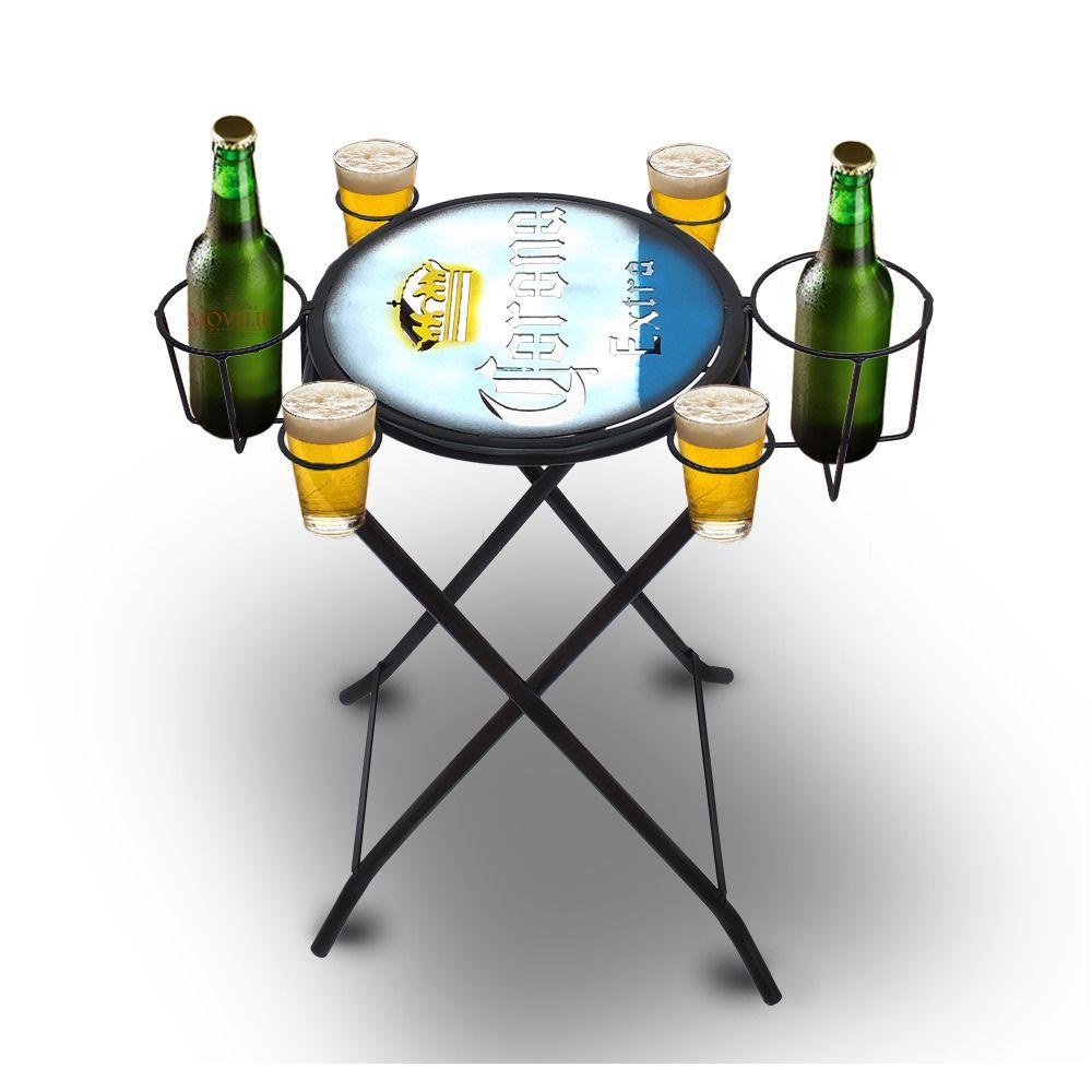 Mesa dobrável petisqueira Cerveja Corona